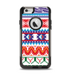 The Vector White-Blue-Red Aztec Pattern Apple iPhone 6 Otterbox Commuter Case Skin Set