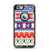 The Vector White-Blue-Red Aztec Pattern Apple iPhone 6 Otterbox Defender Case Skin Set