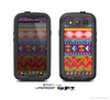 The Vector White-Blue-Red Aztec Pattern Skin For The Samsung Galaxy S3 LifeProof Case