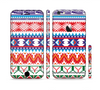 The Vector White-Blue-Red Aztec Pattern Sectioned Skin Series for the Apple iPhone 6
