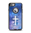 The Vector White Cross v2 over Purple Nebula Apple iPhone 6 Otterbox Defender Case Skin Set