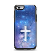 The Vector White Cross v2 over Purple Nebula Apple iPhone 6 Otterbox Symmetry Case Skin Set