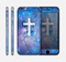 The Vector White Cross v2 over Purple Nebula Skin for the Apple iPhone 6