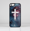The Vector White Cross v2 over Red Nebula Skin-Sert for the Apple iPhone 5c Skin-Sert Case