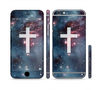 The Vector White Cross v2 over Red Nebula Sectioned Skin Series for the Apple iPhone 6