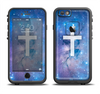 The Vector White Cross v2 over Space Nebula Apple iPhone 6 LifeProof Fre Case Skin Set