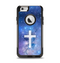 The Vector White Cross v2 over Space Nebula Apple iPhone 6 Otterbox Commuter Case Skin Set