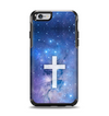 The Vector White Cross v2 over Space Nebula Apple iPhone 6 Otterbox Symmetry Case Skin Set
