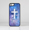 The Vector White Cross v2 over Space Nebula Skin-Sert for the Apple iPhone 5c Skin-Sert Case