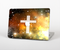 "The Vector White Cross v2 over Yellow Nebula Skin Set for the Apple MacBook Pro 15"" with Retina Display"