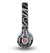 The Vector White and Black Segmented Swirls Skin for the Beats by Dre Mixr Headphones