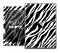 The Vector Zebra Print Skin for the iPad Air