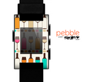 The Vectored Color Wine Glasses & Bottles Skin for the Pebble SmartWatch