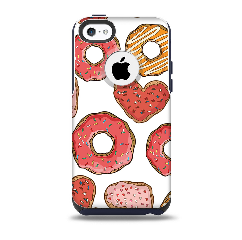 The Vectored Love Treats Skin for the iPhone 5c OtterBox Commuter Case
