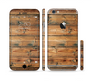 The Vertical Raw Aged Wood Planks Sectioned Skin Series for the Apple iPhone 6