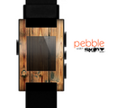 The Vertical Raw Aged Wood Planks Skin for the Pebble SmartWatch