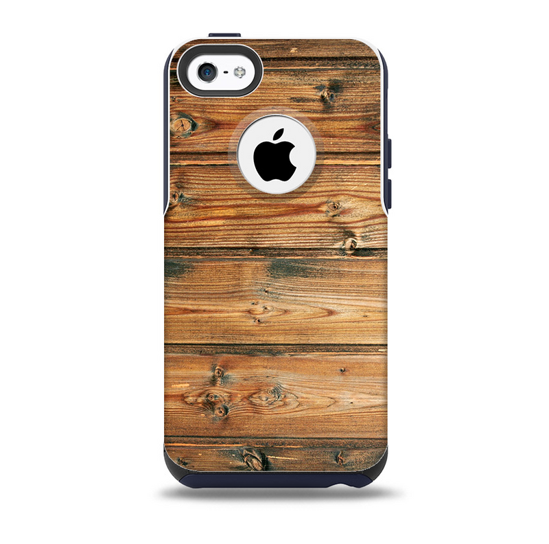 The Vertical Raw Aged Wood Planks Skin for the iPhone 5c OtterBox Commuter Case
