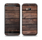The Vertical Raw Dark Aged Wood Planks Skin for the HTC One M8