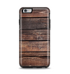 The Vetrical Raw Dark Aged Wood Planks Apple iPhone 6 Plus Otterbox Symmetry Case Skin Set