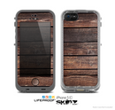 The Vetrical Raw Dark Aged Wood Planks Skin for the Apple iPhone 5c LifeProof Case