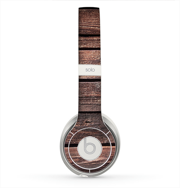 The Vetrical Raw Dark Aged Wood Planks Skin for the Beats by Dre Solo 2 Headphones