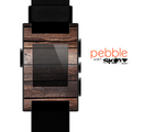 The Vetrical Raw Dark Aged Wood Planks Skin for the Pebble SmartWatch