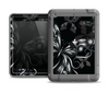 The Vibrant Black & Silver Butterfly Outline Apple iPad Air LifeProof Fre Case Skin Set