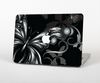 The Vibrant Black & Silver Butterfly Outline Skin Set for the Apple MacBook Air 13""
