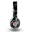 The Vibrant Black & Silver Butterfly Outline Skin for the Original Beats by Dre Wireless Headphones