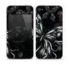The Vibrant Black & Silver Butterfly Outline copy Skin for the Apple iPhone 4-4s