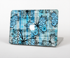 The Vibrant Blue Butterfly Plaid Skin Set for the Apple MacBook Air 13""