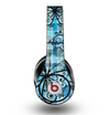 The Vibrant Blue Butterfly Plaid Skin for the Original Beats by Dre Studio Headphones