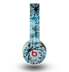 The Vibrant Blue Butterfly Plaid Skin for the Original Beats by Dre Wireless Headphones