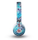 The Vibrant Blue Glow-Tiles Skin for the Beats by Dre Mixr Headphones
