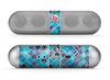 The Vibrant Blue Glow-Tiles Skin for the Beats by Dre Pill Bluetooth Speaker