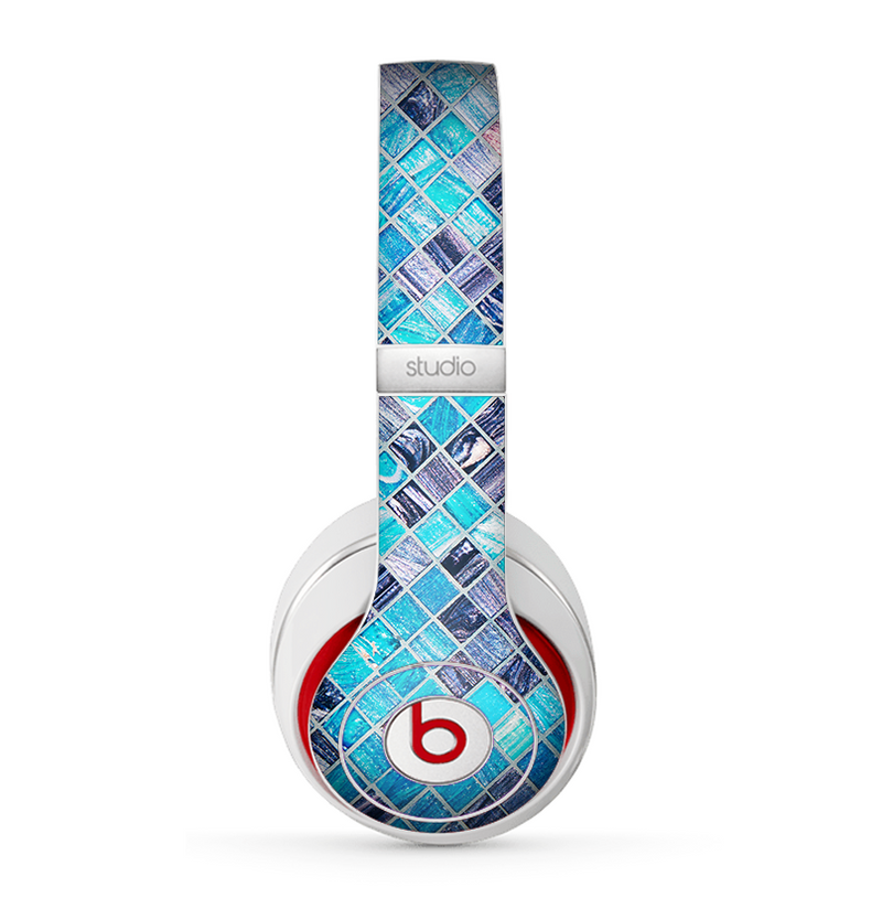 The Vibrant Blue Glow-Tiles Skin for the Beats by Dre Studio (2013+ Version) Headphones