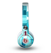 The Vibrant Blue HD Blocks Skin for the Beats by Dre Mixr Headphones