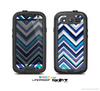 The Vibrant Blue Sharp Chevron Skin For The Samsung Galaxy S3 LifeProof Case