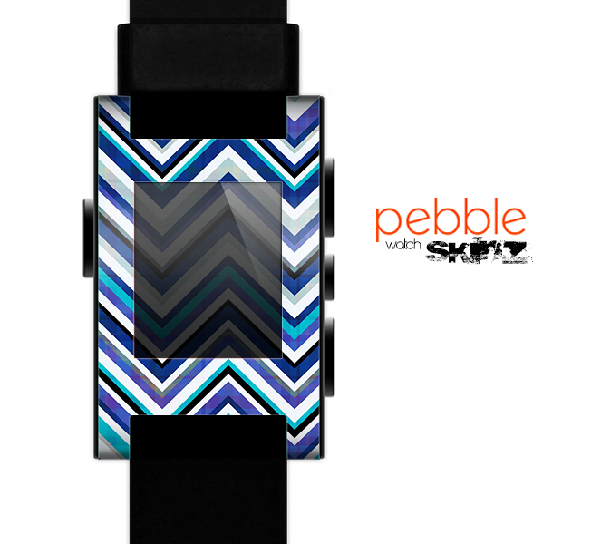 The Vibrant Blue Sharp Chevron Skin for the Pebble SmartWatch copy