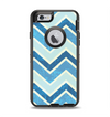 The Vibrant Blue Vintage Chevron V3 Apple iPhone 6 Otterbox Defender Case Skin Set