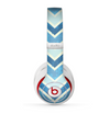 The Vibrant Blue Vintage Chevron V3 Skin for the Beats by Dre Studio (2013+ Version) Headphones