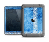 The Vibrant Blue & White Floral Lace Apple iPad Air LifeProof Fre Case Skin Set