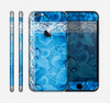 The Vibrant Blue & White Floral Lace Skin for the Apple iPhone 6