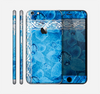 The Vibrant Blue & White Floral Lace Skin for the Apple iPhone 6 Plus