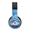 The Vibrant Blue & White Floral Lace Skin for the Beats by Dre Pro Headphones