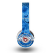The Vibrant Blue & White Floral Lace Skin for the Original Beats by Dre Wireless Headphones