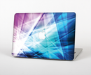 "The Vibrant Blue and Pink HD Shards Skin Set for the Apple MacBook Pro 15"" with Retina Display"