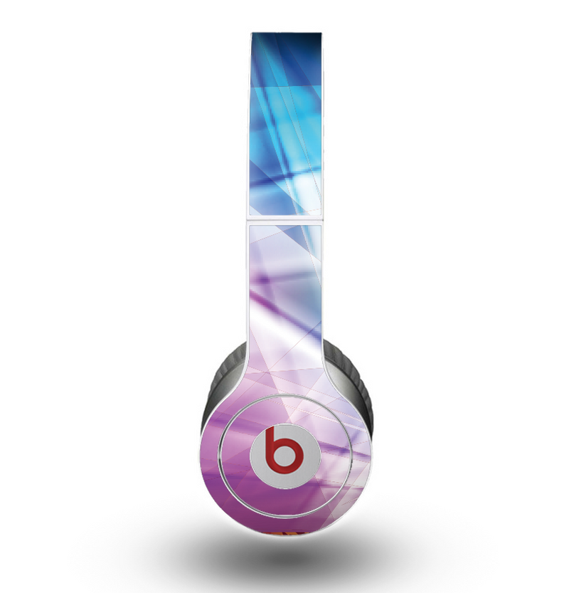 The Vibrant Blue and Pink HD Shards Skin for the Beats by Dre Original Solo-Solo HD Headphones