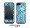 The Vibrant Blue and White Paisley Design  Skin for the Apple iPhone 5c LifeProof Case