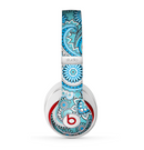 The Vibrant Blue and White Paisley Design  Skin for the Beats by Dre Studio (2013+ Version) Headphones